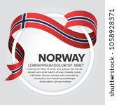 norway flag background | Shutterstock .eps vector #1058928371