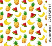 seamless pattern with fruits....   Shutterstock .eps vector #1058929964