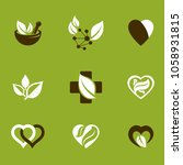 phytotherapy metaphor  vector... | Shutterstock .eps vector #1058931815