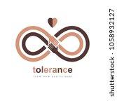 racial tolerance conceptual... | Shutterstock .eps vector #1058932127
