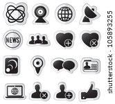 set of community stickers   ...   Shutterstock .eps vector #105893255