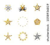 ancient stars emblems set.... | Shutterstock .eps vector #1058936819