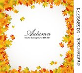 Autumn Leaves Background With...