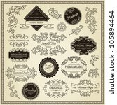 set of design elements  labels  ... | Shutterstock .eps vector #105894464