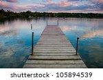 A Pier In A Beautiful Lake In...
