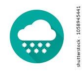 blizzard icon. snowfall icon.... | Shutterstock .eps vector #1058945441