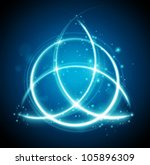 magic background celtic knot... | Shutterstock .eps vector #105896309