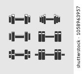 barbell icon  sports fitness... | Shutterstock .eps vector #1058963957
