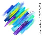 abstract grungy paint smears... | Shutterstock . vector #1058964614