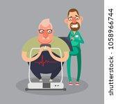 cardiovascular disease... | Shutterstock .eps vector #1058966744