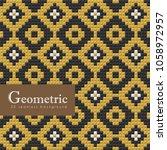 geometric seamless pattern. 3d... | Shutterstock .eps vector #1058972957