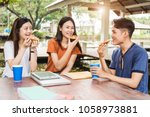 students group woman and man...   Shutterstock . vector #1058973881