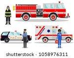 emergency concept. detailed... | Shutterstock .eps vector #1058976311