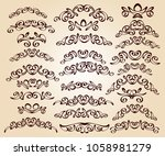 set of decorative elements.... | Shutterstock .eps vector #1058981279