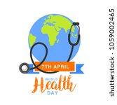 illustration of world health... | Shutterstock .eps vector #1059002465