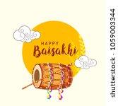 illustration of happy baisakhi... | Shutterstock .eps vector #1059003344