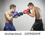 two young boxers facing each... | Shutterstock . vector #105900449