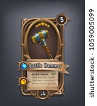 card of fantasy battle hammer... | Shutterstock .eps vector #1059005099