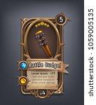 card of fantasy battle cudgel... | Shutterstock .eps vector #1059005135