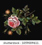 roses embroidery. classical...   Shutterstock .eps vector #1059009611