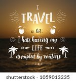 vector hand drawn travel... | Shutterstock .eps vector #1059013235