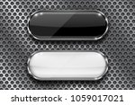 black and white buttons on... | Shutterstock .eps vector #1059017021