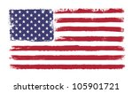 stars and stripes. grunge... | Shutterstock .eps vector #105901721