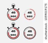 timer 46 seconds on gray... | Shutterstock .eps vector #1059019175