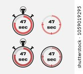 timer 47 seconds on gray... | Shutterstock .eps vector #1059019295