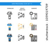 data processing icon set... | Shutterstock .eps vector #1059019709