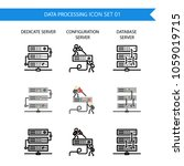 data processing icon set... | Shutterstock .eps vector #1059019715
