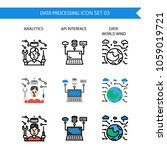 data processing icon set... | Shutterstock .eps vector #1059019721