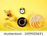 morning coffee  granola... | Shutterstock . vector #1059020651