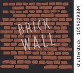 brick wall. craft retro vintage ... | Shutterstock .eps vector #1059029384