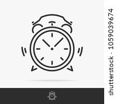 alarm icon set line style.... | Shutterstock .eps vector #1059039674