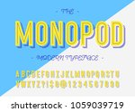 monopod modern typeface trend... | Shutterstock .eps vector #1059039719