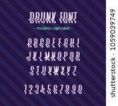 drunk modern alphabet cool...   Shutterstock .eps vector #1059039749