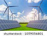 solar and wind power  new... | Shutterstock . vector #1059056801