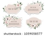 set spring sale background with ...   Shutterstock .eps vector #1059058577