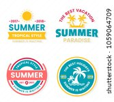 summer retro vector logo for... | Shutterstock .eps vector #1059064709