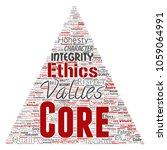 conceptual core values... | Shutterstock . vector #1059064991
