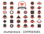 ribbon vintage vector logo for... | Shutterstock .eps vector #1059065681