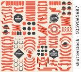 ribbon vintage vector logo for... | Shutterstock .eps vector #1059065687