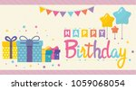 happy birthday background... | Shutterstock .eps vector #1059068054