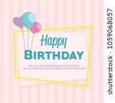 happy birthday background.... | Shutterstock .eps vector #1059068057