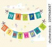 happy birthday background.... | Shutterstock .eps vector #1059068087