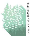 wild and free hand brush... | Shutterstock .eps vector #1059069791