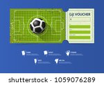 football or soccer ticket... | Shutterstock .eps vector #1059076289
