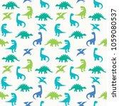 blue green dinosaur silhouette... | Shutterstock .eps vector #1059080537