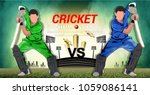 illustration of cricket... | Shutterstock .eps vector #1059086141